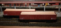 HO, JOUEF, Lot De 2 Wagons Tombereau SNCF + Chargement - Wagons Marchandises