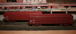 HO, JOUEF, Lot De 2 Wagons Tombereau SNCF - Wagons Marchandises