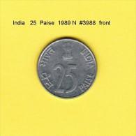 INDIA    25  PAISE  1989 N  (KM # 54) - India