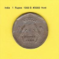 INDIA    1  RUPEE  1988 B  (KM # 79.1) - India