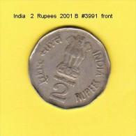 INDIA    2  RUPEES  2001 B  (KM # 154.4) - India