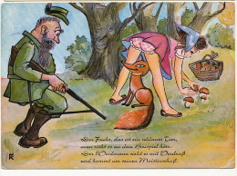 Chasse Comique Erotique Hunting Renard Fox Champignon Mushrooms - Chasse