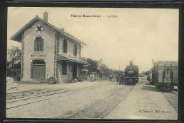 CPA 02 Maizy Beaurieux La Gare Et Le Train Tramway Ligne De Soissons Rethel C B R - France