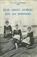 29 FOUESNANT PROGRAMME 1968 FETE DES POMMIERS STRUMP FETE DES TIREURS FOLKLORE CONCOURS DE CIDRE PUBLICITE FINISTERE - Programmes