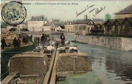 Binnenschepen Péniche    1  CP  France Dep 18  Bourges Chalands à Canal Dy Berry - Unclassified