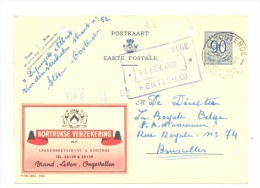 Entier Postal - Publibel 994 - KORTRIJK - COURTRAI - 1952 (sf48) - Interi Postali