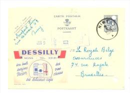 """Entier Postal - Publibel 1015 - MONS """" Cafés Dessily"""" - 1952 (sf48) - Ganzsachen"""
