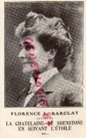 """ECRIVAIN - LITTERATURE - FLORENCE L. BARCLAY-LA CHATELAINE DE SHENSTONE """" PHOTO MANUEL PARIS- LIBRAIRIE PLON - Philosophie & Pensées"""