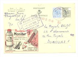 """Entier Postal - Publibel 1611 - KORTRIJK - COUTRAI  """" Produkten Monidur"""" - 1960 (sf48) - Entiers Postaux"""