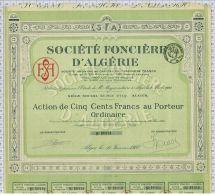 Sté Fonciere D'Algerie à Alger - Afrique