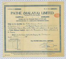 Pathé Malaya Limited + Memorandum And Articles Of Association - Tourisme