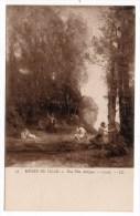 CP, ARTS, PEINTURE, MUSEE DE LILLE, Une Fête Antique - COROT, Vierge - Pintura & Cuadros