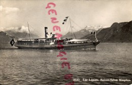 SUISSE - LAC LEMAN  BATEAU SALON SIMPLON - Suisse
