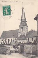 23236 SIERVILLE L'église -ed Antoine Lazarus Rouen -femme Cimetiere