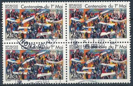 France - Centenaire Du 1er Mai YT 2644 Obl. (bloc De 4) - Frankreich