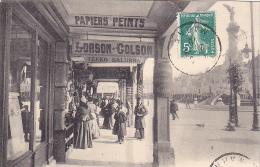 23239 REIMS - Vue Sous Les Arcades - LL 134 -papiers Peints Lorson Golson Tekko Salubra -