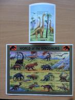 Tanzania 1994 World Of Dinosaurs Dinosaures Dinosaurier 1 Sheets + 1 Souvenir MNH** - Tanzania (1964-...)