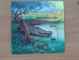 Tanzania 1995 Crocodile Aligator Predators Of Africa Krokodil 1 Souvenir Sheet MNH** - Tansania (1964-...)