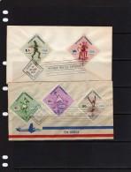 République Dominicaine: 1957 2 Belles Fdc Vainqueurs Aux Jeux Olympiques De Melbourne Dont Alain Mimoun - Summer 1956: Melbourne