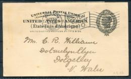 1901 USA Boston Flag Cancel  Stationery Postcard - Etats-Unis