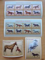 Tanzania 1997 Equestrian Horses Chevaux Pferde 2 Sheets + 2 Souvenir Sheets MNH** - Tanzania (1964-...)
