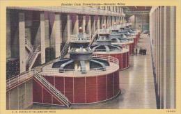 Nevada Boulder Dam Powerhouse Nevada Wing Curteich