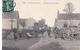 23259 LE PERRAY Yvelines La Rue Verte -la -croix -239 Lib Nouvelle Rambouillet Charette Attelage Cheval Femmes