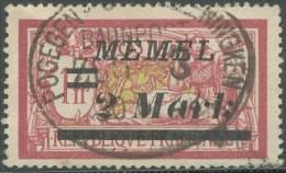 Memel - N° 60 (YT) N° 60 (AM) Oblitéré De Pogegen. - Memel (1920-1924)