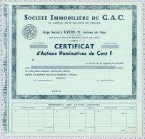 Sté Immobiliere Du GAC à Lyon (blanquette) - Banque & Assurance