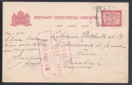 INDES NEERLANDAISES -   CARTE ENTIER POSTAL DU 2 FEVRIER 1911 A DESTINATION DE PARIS  - - Nederlands-Indië