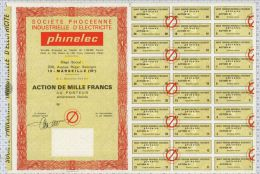 Sté Phoceenne Industrielle D'Electricité Phinelec à Marseille (blanquette) - Electricité & Gaz