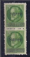 Saar1920:Michel21(2 Varieties)note:S And Line At Bottom Of Overprint On One Copymh* - Saargebiet