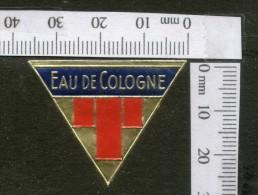 India 1950's Eau De Cologne French Print Vintage Perfume Label Multi-colour # 1931 - Etiquettes