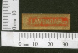 India 1950's Lanvendar French Print Vintage Perfume Label Multi-colour # 3044 - Labels
