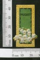 India 1950's Muguet Flowers French Print Vintage Perfume Label Multi-colour # 105 - Labels