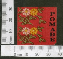 India 1950's Pomade French Print Vintage Perfume Label Multi-colour # 338 - Labels