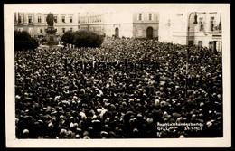 ALTE POSTKARTE GRAZ ANSCHLUSSKUNDGEBUNG 24.07.1928 Sängerbundesfest Kundgebung Denkmal Versammlung Ereignis Sängerfest - Graz