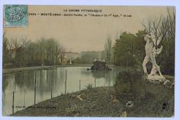 """26b45CpaMONTELIMAR Jardin Public , Le 3cHasseur Du 1er Age """" , Le Lac 1907 - Montelimar"""