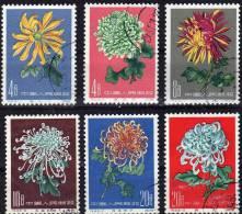 Chrysantheme 1961 VR China MICHEL 583/8 O 30€ Blumen Satz III Chrysanthemen Verschiedener Züchtungen Flower Set Of Chine - Used Stamps