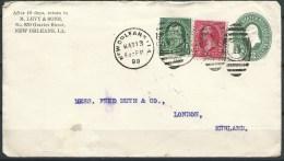 .B.14.MAA.174.   POSTWAARDESTUK  VAN  DE  U.S.A.  NAAR  ENGELAND.  1899.   BIJ-FRANKERING. - Brieven En Documenten