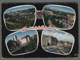 T2265 SOUVENIR DE LUXEMBOURG VIEWS VG (m) - Cartoline