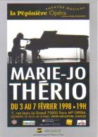 """Carte Postale édition """"Carte à Pub"""" - Marie-Jo Thério (chanteuse Canadienne) - La Pépinière Opéra - Publicité"""