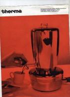 THERMA  -  Cafetière Automatique à Filtre  - Therma S.A. Schwanden  - 3 Langues - Reclame