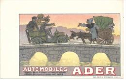 PUBLICITE - AUTOMOBILES ADER - Werbepostkarten