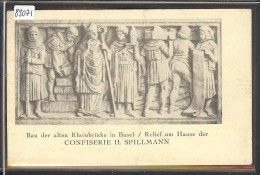 BASEL - RELIEF AM HAUSE DER CONFISERIE H. SPILLMANN - TB - BS Bâle-Ville