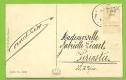 Kaart Verstuurd Met Correspondentie Onder De Postzegels / Message Secret Sous Le Timbre / Fraude Postale : Texte Sous - Non Classés