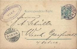 AUSTRIA 1906 - PRESTAMPED POSTAL CARD OF 5 HELLER POSTM WIEN JAN 29,1906 + ARRIVAL POSTMARK ELDENA JAN 31,1906 WITH RUBB - Briefe U. Dokumente