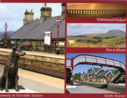 (669) Garsdale Train Station With Dog Statue - Stazioni Senza Treni