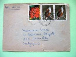 Ivory Coast 1983 Cover To Belgium - Flowers - Birds Eagles - Costa D'Avorio (1960-...)