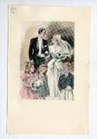 Mariage , MARIES , Marié , Mariée , 16 X 10.5 Cm - Lithographies